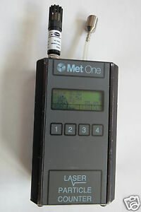 Used Met One 227b Handheld Particle Counter With Temperature Humidity Probe