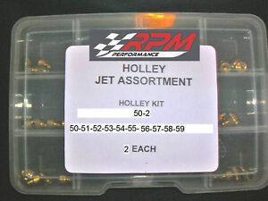 Holley Carburetor 1 4 32 Gas Main Jets Assortment Kit 50 59 2 Each 20pack 50 2
