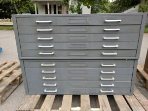 Hamilton Steel Flat File Cabinet 5 Drawer Art Map Blueprint