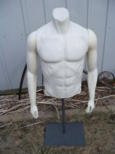Fusion Specialties Used Mannequin Male Torso Magnetic Arms W Base Nike Usa