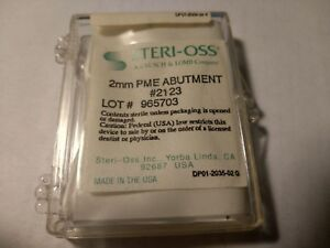 Dental Implant Parts Steri oss 2mm Pme Abutment And Impression Copping 2123