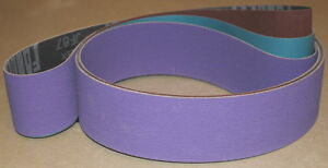 16 Pc 2 X 72 Purple Ceramic Ao Sanding Belt Kit Assortment 4 On Sale