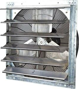 Shutter Mounted Fan Exhaust 24 Automatic Proof Garage Cool Air Blades