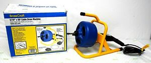 Drain Cleaner Brasscraft 5 16 In X 50ft Cable Drum Machine Model 600 bc260