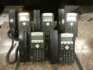 Lot Of 5 Polycom Ip330 Soundpoint 2201 12330 001 Ip Phones Large Quantity