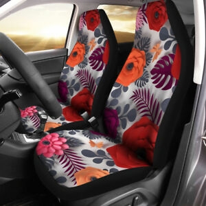 Paper Flower Car Seat Covers Flower Lover Gift Set Of 2 Front Seat Covers