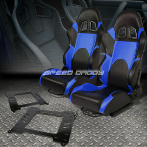 2x Woven Fabric Fully Racing Seat Brackets For 99 05 Bmw 3 Series M3 E46 Coupe