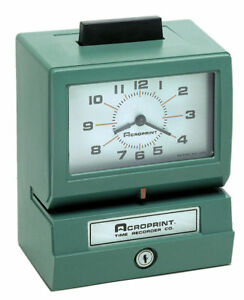 Acroprint 125ar3 Heavy Duty Time Clock Read 01 1070 400