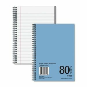 Wholesale Case Of 25 Mead Heavyweight Spiralbound Notebook spiral Sheets blue
