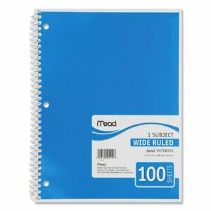 Wholesale Case Of 25 Mead Spiral Bound Notebooks spiral Rule 100