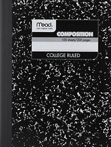 12 Pack of Mead Square Deal Composition Book 100 count College Ruled Black 12