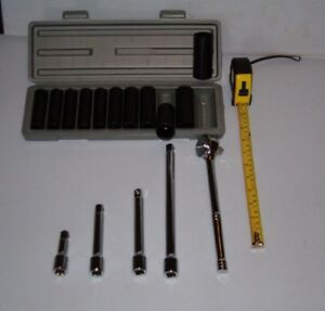 16 Piece Ratchet Extensions Socket Set 1 2 Drive 39 99 Free Shipping