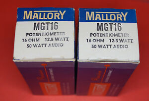 Mallory Mgt16 Potentiometer 16 Ohm 12 5w 50 Watt Audio Lot Of 2