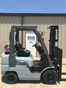 2010 Nissan Propane Forklift Mp1f1a20lv Nice 4000lb Lift Only 4422 Hours