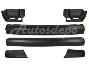 Front Rear Bumper Primed Center Bar With End Txt 6pc For Jeep Cherokee 1997 2001