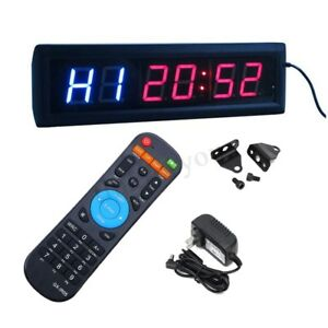 New Multifunctional Crossfit Programled Interval Timer W remote For Emom Tabata