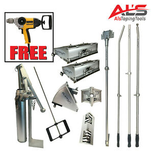 Platinum Drywall Finishing Set W 10 12 Boxes Free Dewalt Mixer Paddle