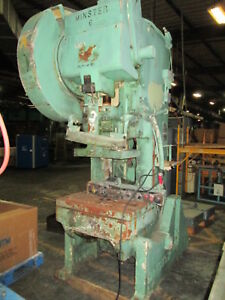 Minster No 6 6 stroke 32 x 21 bolster 60 Ton 30 Spm Obi Gap Type Stamping Press