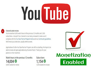 Youtube Service L Enable Monetization On your Youtube Channel To Earn Money