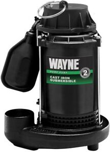 Wayne Submersible Sump Pump Water Pumping 1 3 Hp Cast Iron Tether Float Switch