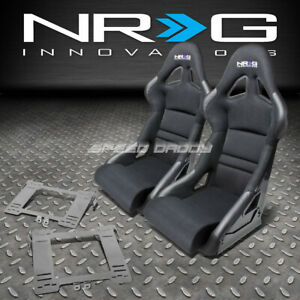 Nrg Deep Bucket Racing Seats Cushion Stainless Steel Bracket For Mk4 Golf Jetta