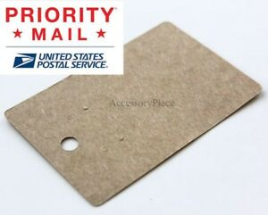 Wholesale 600pcs Small Blank Earrings Jewelry Display Card In Brown Kraft Paper