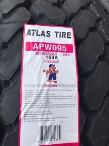 2 New Commercial Truck Tire 385 65r22 5 Atlas Apw095 All Position Tire