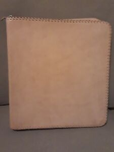 Natural Tan Leather Album Portfolio Binder