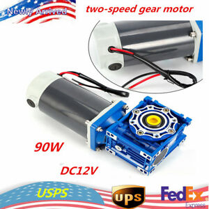 90w Dc12v Worm Gear Reducer Gearbox Motor Low Speed high Torque Self locking Hot