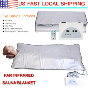 Sauna Blanket Far Infrared 2 Zones Weight Loss Spa Detox Slimming Beauty Machine