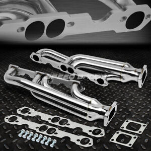 For 65 89 Chevy Sbc 4 6 6 6 V8 T3 Stainless Steel Racing Turbo Manifold Exhaust