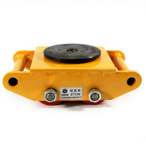 360 6t Heavy Machine Dolly Skate Roller Machinery Mover Cargo Trolley 13200lb
