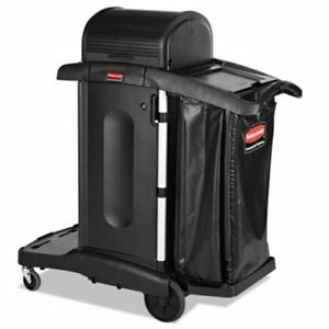 Rubbermaid 1861427 High Security Janitorial Cleaning Cart Black rcp1861427