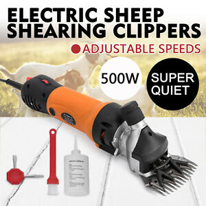 500w Electric Sheep Goat Shears Clippers Animal Shave Goats Carry Box Farm