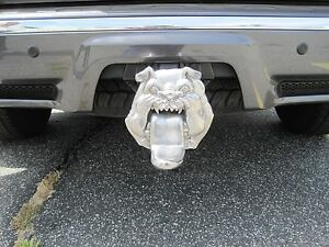 New Stainless Bulldog Shape Hitch Cover With Step