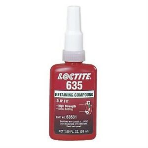Loctite 635 High Strength Retaining Compound 50 Ml Bottle Green