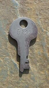 Antique Steamer Trunk Key Corbin T122 T 122 Flat Key T 122