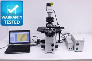 Olympus Ix71 Inverted Microscope Phase Contrast Fluorescence