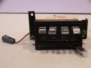 1968 Chrysler Imperial Heater Controls 2497387 Lebaron Crown Coupe 67 69 70 71