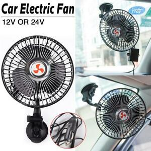 12 24v 360 Rotation Car Truck Boat Vehicle Cooling Air Fan Silent Cooler