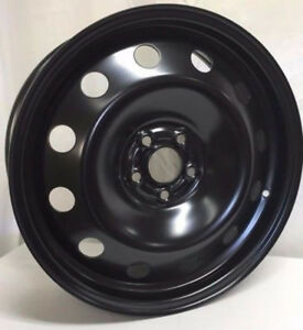 17 Black Steel Wheel Fits Toyota Celica Corolla Matrix Prius Chevy Cavalier Co
