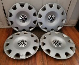 Oem Set Of 4 1999 2002 Vw Volkswagen Jetta 15 Hubcaps Wheel Covers 1j0601147n