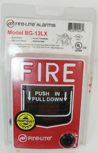 Fire lite Alarms Bg12lx Addressable Pull Station Fire Alarm Never Used g5