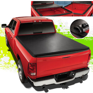 For 15 18 Ford F150 6 5ft Truck Bed Lock Roll Up Soft Vinyl Tonneau Cover Kit