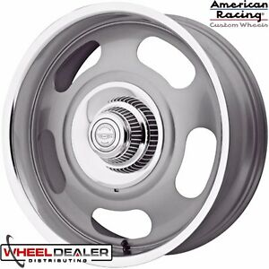 20 Staggered Gray American Racing Vn506 Rally Wheels Caps Chevy Gmc 5x5 Truck