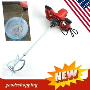 Hand held Power Mixer Mortar plaster 1500w Electric Mixer Tool One Paddle Usa