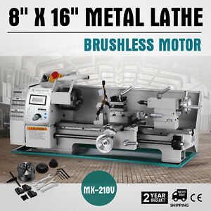 Brushless Motor Mini Metal Lathe Woodworking Tool 2500rpm Metal Wood Milling
