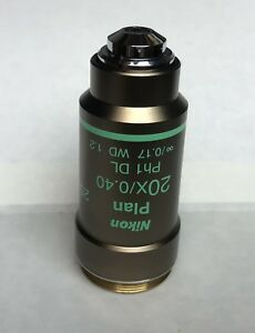Nikon 20x Ph1 Dl Phase Contrast 0 17 Microscope Objective Plan Eclipse Series