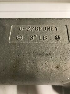 O z gedney 3 Lb Condulet Conduit Body And Cover No Gasket