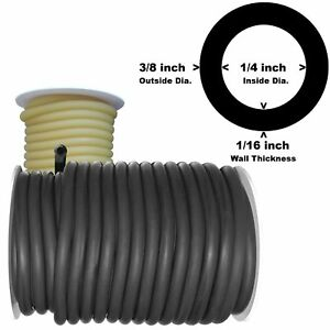 50 Feet Black Rubber Latex Tubing 3 8 od 1 4 id 804b